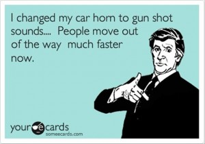 someecards gun shot sounds for car horn