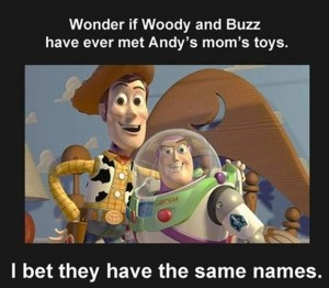 toys funny andys moms toys woody and buzz