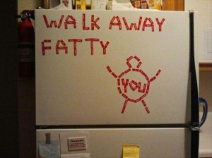 walk away fatty funny health advice