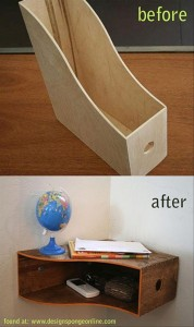 craft ideas book shelf