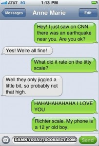 earthquake, funny texts