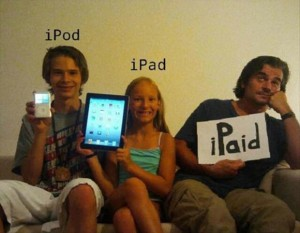 family photo, funny ipad