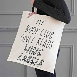funny book club, wine