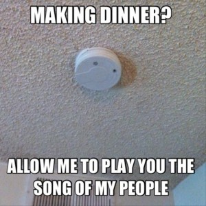 funny cooking, fire alarm