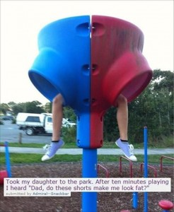 funny kids at a park