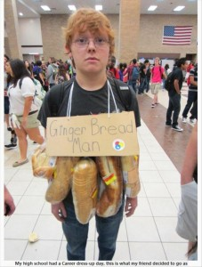 ginger bread man, funny halloween costumes