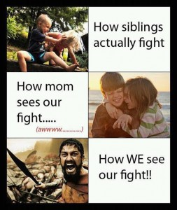 how siblings fight