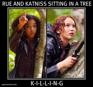 katniss, hunger games, funny