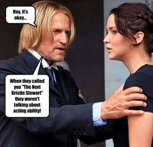 kristen stewart, hunger games, funny