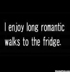 romantic walks, funny quotes