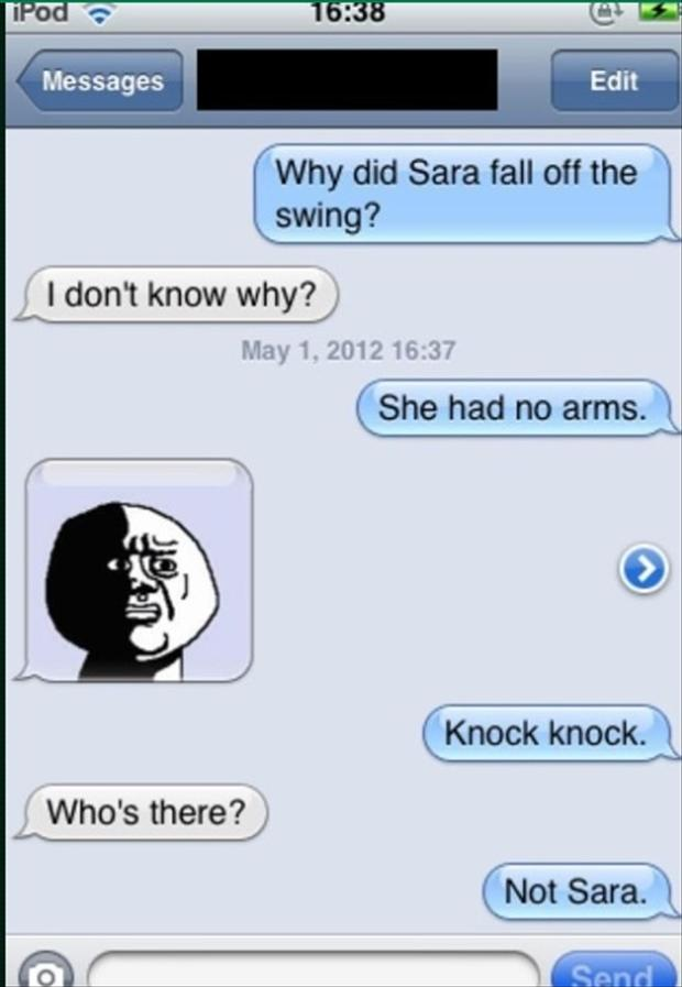 Short jokes funny texts