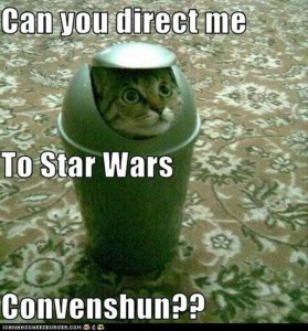 star wars funny cat convention