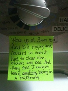take care of sick baby, funny notes