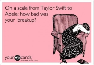 taylor swift, adele, breakup, funny ecard