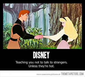 teaching you not to talk to strangers, disney