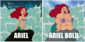 the little mermaid, funny font