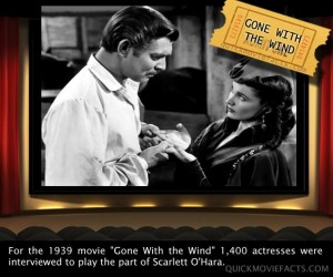 Movie Facts- Gone With The Wind