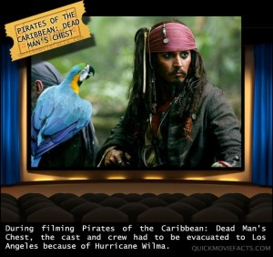 Movie Facts- Pirates of the Caribbean Dead Man's Chest fact