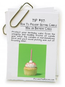 Picture-The-Recipe-Tips-How-To-Prevent-Getting-Candle-Wax-on-Birthday-Cakes