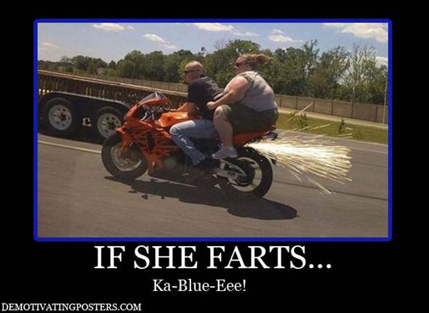 Posters Funny Big Girl Biker Bike Motorcycle