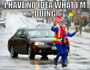 funny cross walk lady