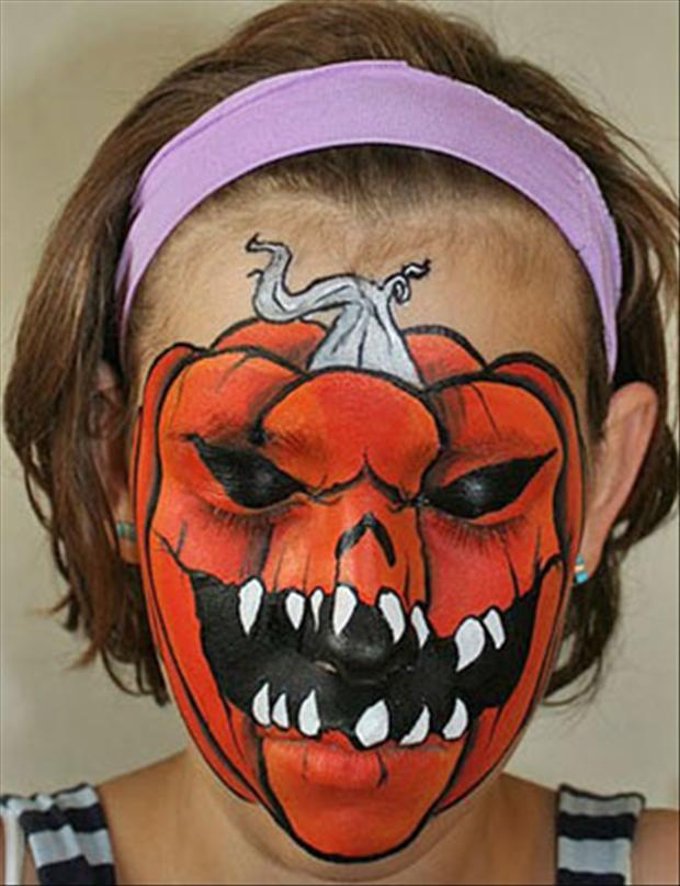 Amazing Halloween Face Paintings  40 Pics - Cool Halloween Face Paint Ideas