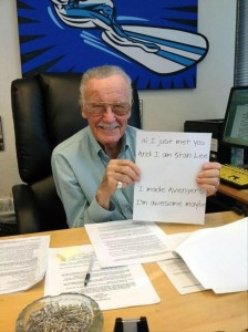 stan lee, avengers, funny notes