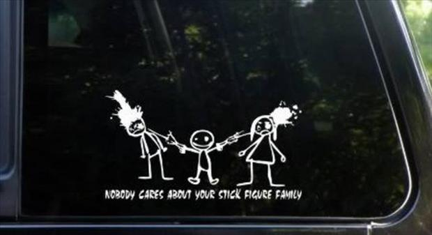 stick figure family stickers (10) - Dump A Day