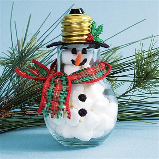 Christmas crafts on pinterest lightbulb ornaments for Holiday project