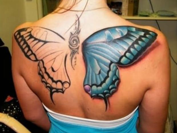 Best tattoos big butterfly back tattoo dump a day for Best back tattoos