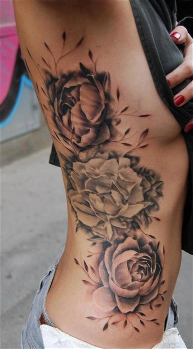 Tattoos pictures flowers roses