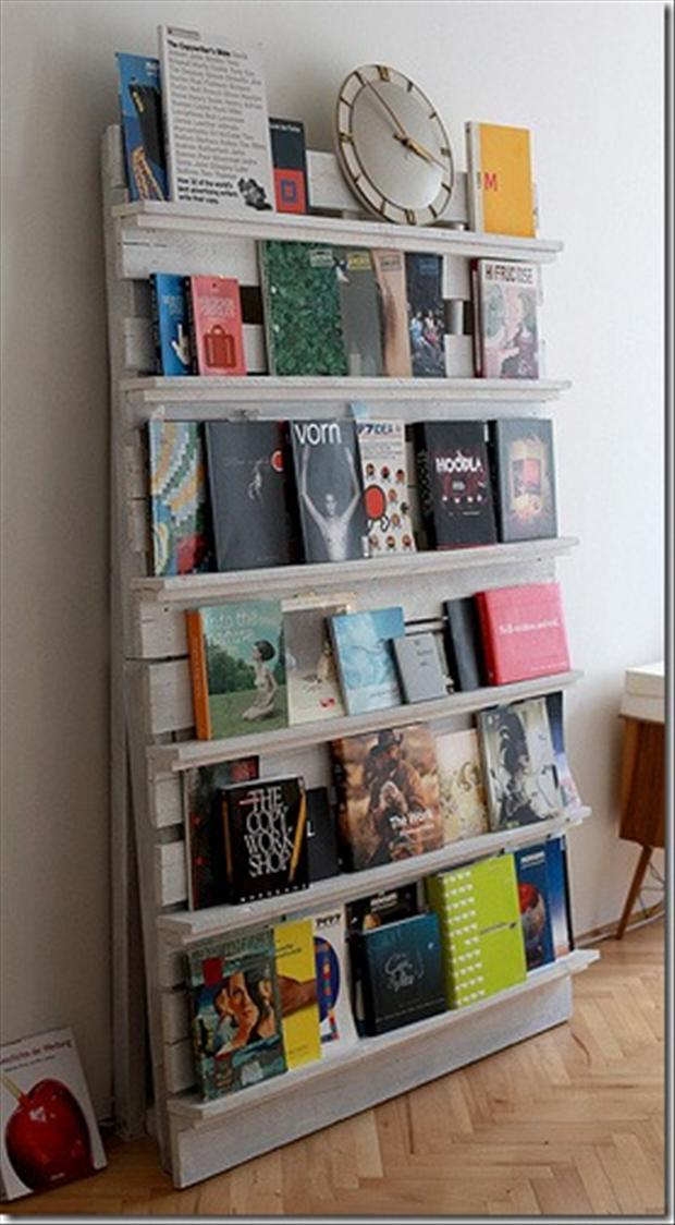 Bookshelf Made From Used Pallets