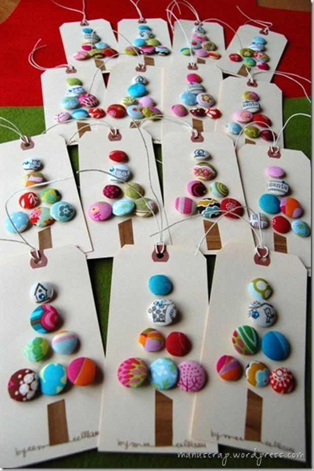 christmas crafts, name tags for gifts - Dump A Day