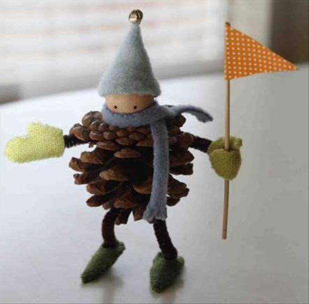Christmas Crafts Pine Cone Crafts Dump A Day