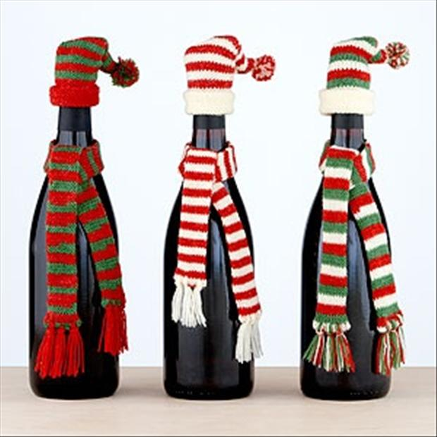 Christmas crafts with wine bottles dump a day for Christmas craft ideas with wine bottles