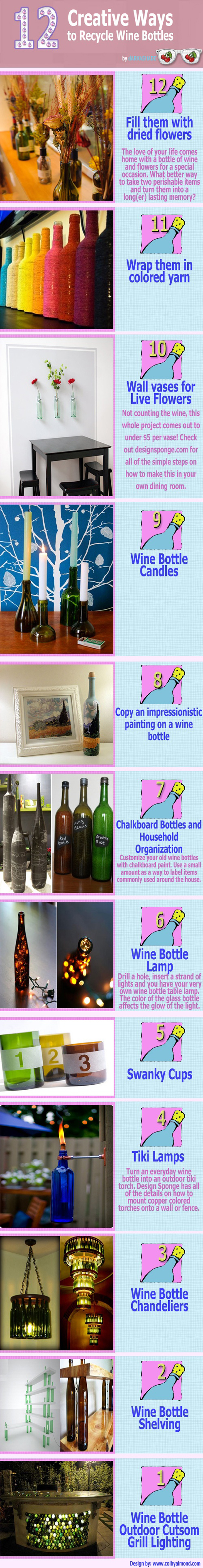 12 creative ways to recycle wine bottles - Creative ideas to reuse wine bottles ...