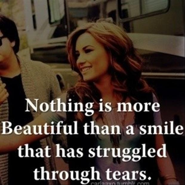 Nice Quotes On Beautiful Smile: Postive Quotes Demi Lovato Strong. QuotesGram