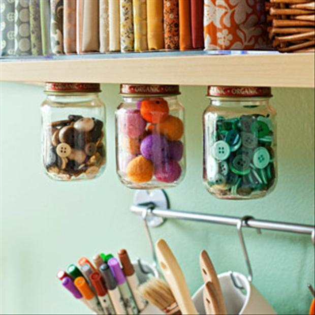 DIY Organization Craft Room Storage Ideas 620 x 620