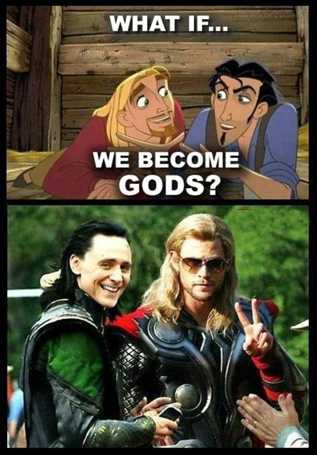 I love how loki is drawn in this!! | Marvel jokes ... |Funny Thor And Loki Text