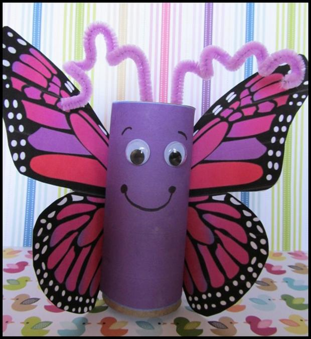 1000 images about hmyz on pinterest butterfly crafts for Paper roll projects