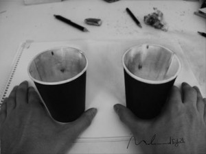 Anamorphic 3D Drawings- Cups