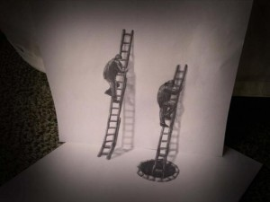 Anamorphic 3D Drawings- Ladders