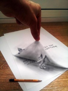 Anamorphic 3D Drawings- Leprechauns