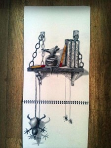 Anamorphic 3D Drawings- Mouse Shelf