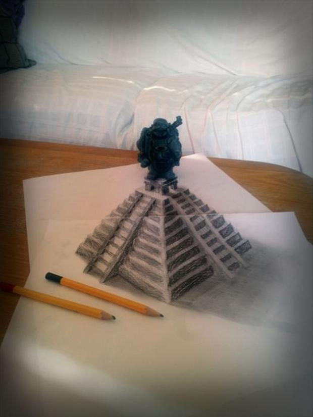 Anamorphic 3D Drawings- Pyramid