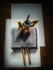 Anamorphic 3D Drawings- Rabbit Eye
