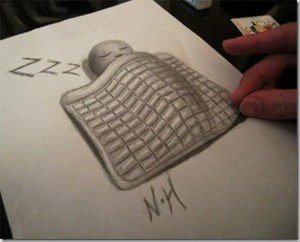 Anamorphic 3D Drawings- Sleeping