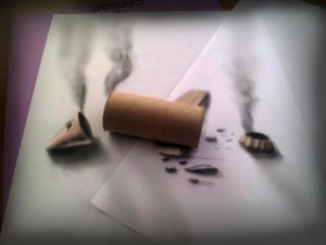Anamorphic 3D Drawings- Smoking