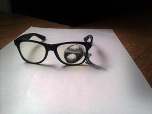 Anamorphic 3D Drawings- Through Spectacles