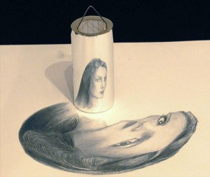 Anamorphic 3D Drawings- mirror